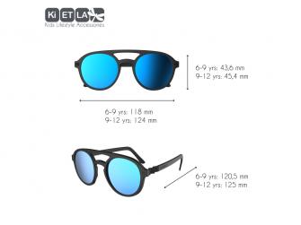 Dětské sluneční brýle CraZyg-Zag 9-12 let pilotky - černé zrcadlovky 3