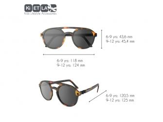 Dětské sluneční brýle CraZyg-Zag 9-12 let pilotky - hnědé 3