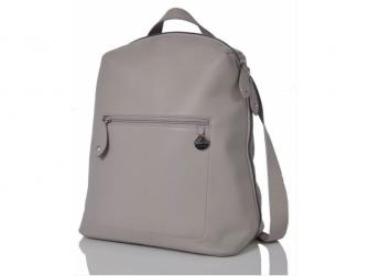 HARTLAND kožená šedá - přebalovací taška i batoh