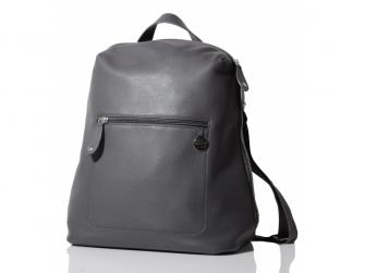 HARTLAND kožená tmavě šedá - přebalovací batoh