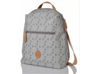 HARTLAND světle šedý se vzorem - přebalovací taška i batoh