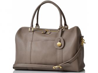 FIRENZE latte - luxusní kožená kabelka i přebalovací taška