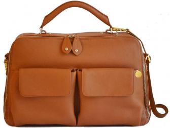 MADISON - kabelka i přebalovací taška - hnědá