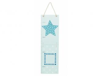 Růstový metr hvězda modrá