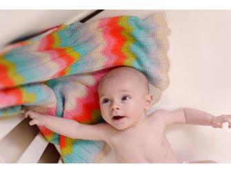 Pletená deka - rainbow 3