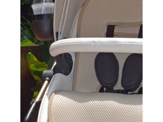 Letní sedací podložka do kočárku Xari béžová 3