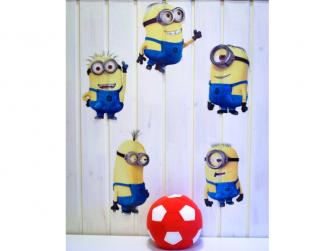 Dětské samolepky - Minions 3D