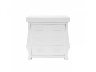 SET HOLLIEWAL 3ks - postýlka(oblé bočnice bílá), komoda, skříň 4