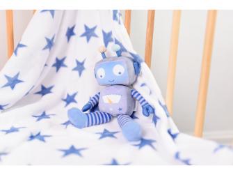 Dárková sada deka s robotem 2