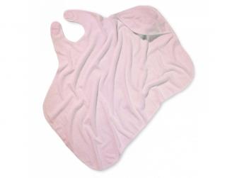Osuška s kapucí růžová