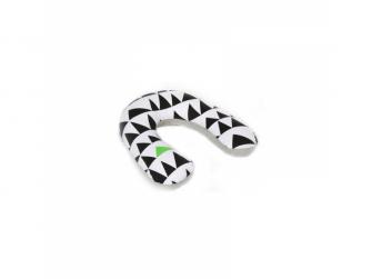 Kojící polštář velký GEO LOVE -  černá/ bílá