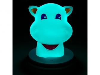 LED noční světlo, hippo 4