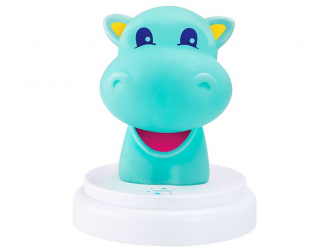 LED noční světlo, hippo