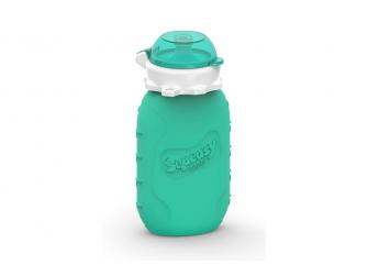 Silikónová kapsička na dětskou stravu 104ml - aqua