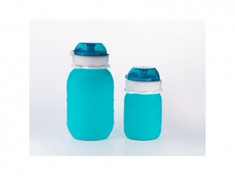 Silikónová kapsička na dětskou stravu 180ml - aqua