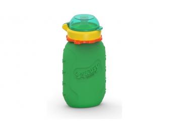 Silikónová kapsička na dětskou stravu 180ml - zelená