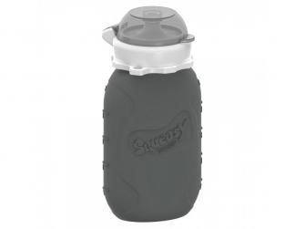 Silikonová kapsička na dětskou stravu 180 ml - šedá