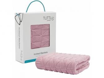 Pletená deka CoZee - dusty pink