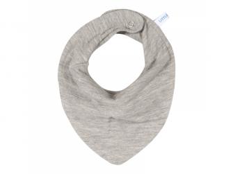 Bandana bib - pure grey