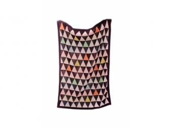 Pletená deka Triangles
