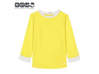 plavky s UV ochranou top 3 - 4 roky, žlutá