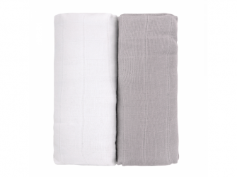 Látkové TETRA osušky, white-grey/bílá-šedá