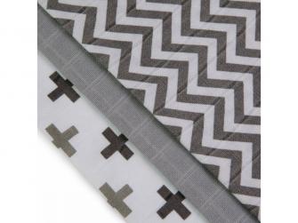 BIO Bambusové pleny, grey roofs / šedé stříšky, 3ks 2