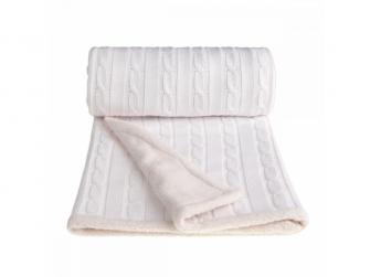 Pletená deka, winter, white/bílá