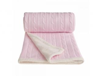 Pletená deka, winter, pink/růžová