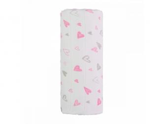 Velká bavlněná TETRA osuška, pink hearts/růžová srdíčka