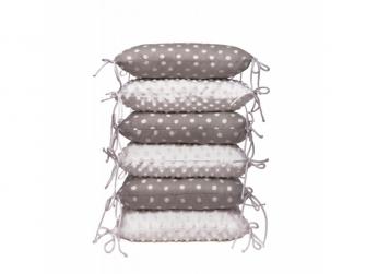 Polštářkový mantinel, grey / little dots