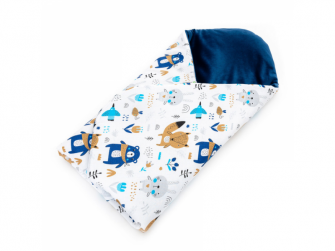 Rychlozavinovačka VELVET, blue bears 80 x 80