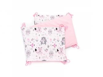 Skládaný mantinel VELVET, pink bears 35 x 150