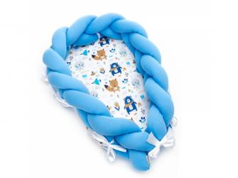 Pletené hnízdečko 2v1, blue bears 50 x 80