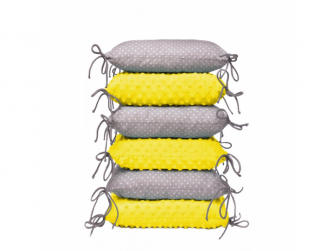 Polštářkový mantinel, yellow / little grey dots