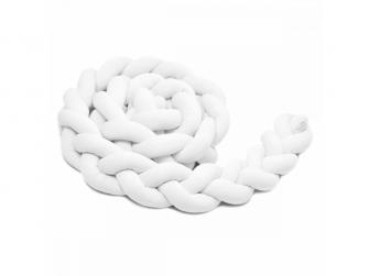 Pletený mantinel 360 cm, white