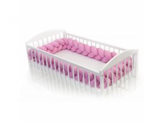 Pletený mantinel 360 cm, pink 2
