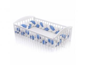 Pletený mantinel 360 cm, white + blue 2