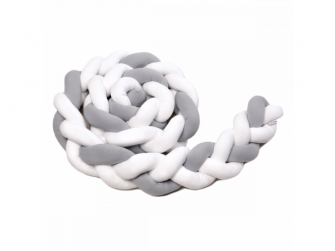 Pletený mantinel 360 cm, white + grey