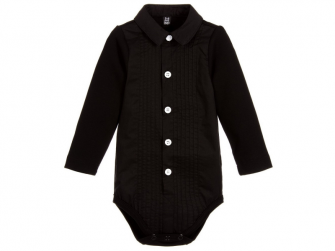 Body Tuxedo All Black 0 - 3 m.