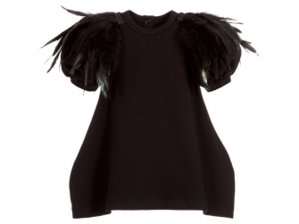 Šaty The Tiny Feathers All Black 80