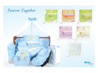 Sada povlečení Forever Together (60x40, 135x100, mantinel) BÍLÁ