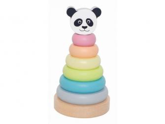 Dřevěná skládací pyramida panda