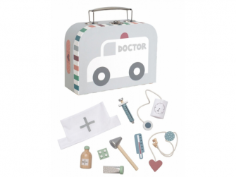 Lékařský kufřík stříbrný