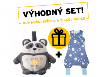 Noční světlo s hudbou Grofriend Pip the Panda + dárek