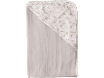 Mušelínový ručník s kapucí bambus Bébé-Jou Fabulous Wish Grey