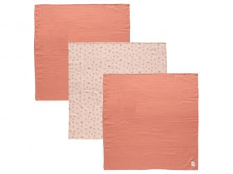 Mušelínová plenka 70x70 cm set 3ks Fabulous Wish Pink