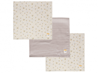 Mušelínová plenka 70x70 cm set 3ks Fabulous Wish Grey