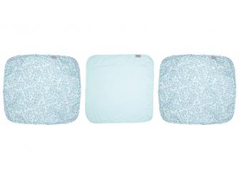 Mušelínová žínka na obličej 3ks Leopard Blue