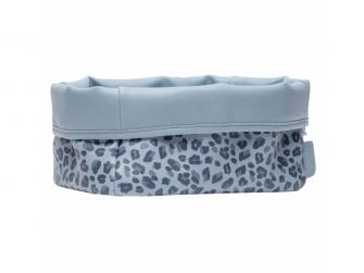 Textilní košík na kojenecké potřeby Leopard Blue